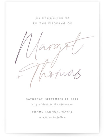 Ethereal Names Wedding Invitations