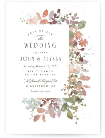 Wesleyan Hill Wedding Invitations