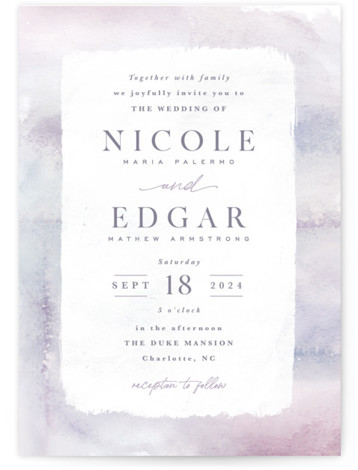 Lavender Fields Wedding Invitations
