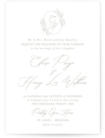 Essential Wedding Invitations