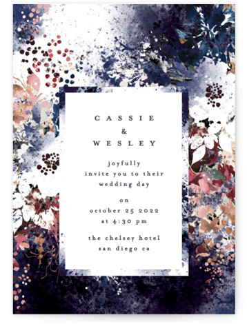 Floral Cascade Wedding Invitations