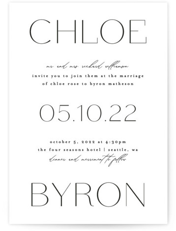 chloe Wedding Invitations