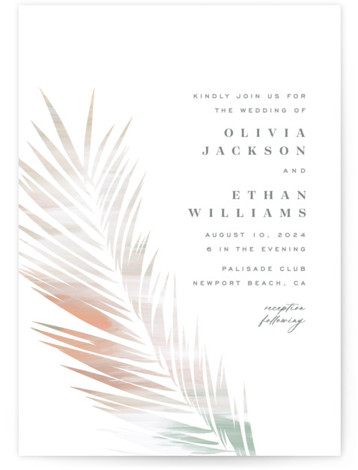 Painted Leaves Wedding Invitations