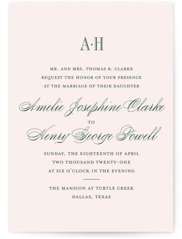 Hepburn Wedding Invitations