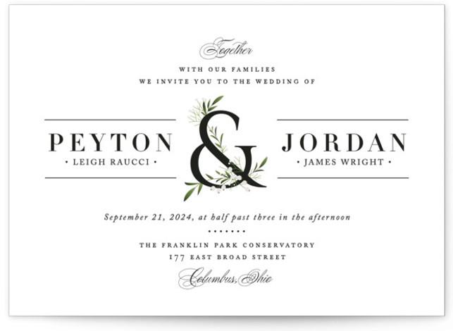 Adorned Ampersand Wedding Invitations