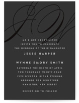 Twirl Monogram A Wedding Invitations