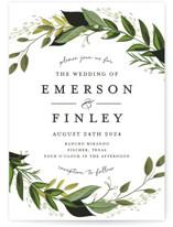 Vines of Green Wedding Invitations