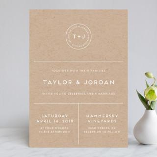 Modern Stamp Wedding Invitations