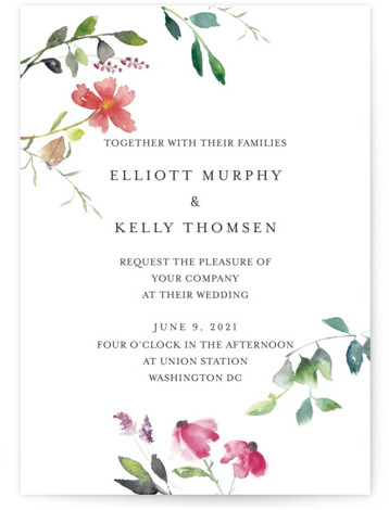 Spring Wildflowers Wedding Invitations