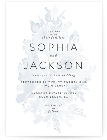 Etheral Bouquet Wedding Invitations