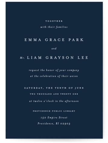 A Thousand Years Wedding Invitations