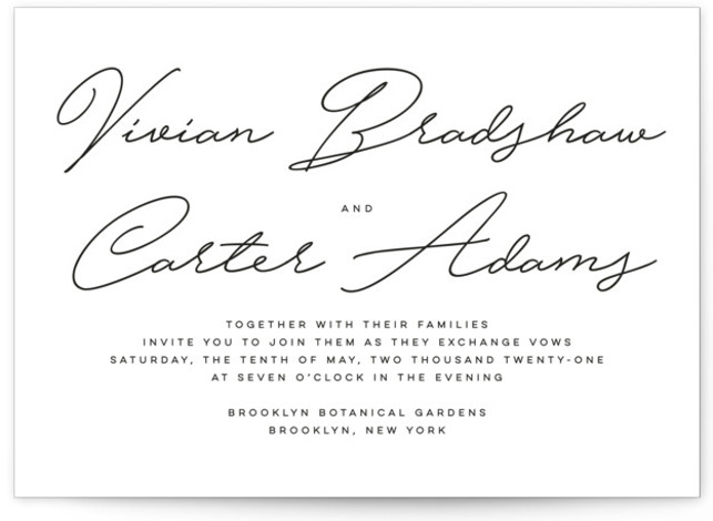 Brooklyn Wedding Invitations