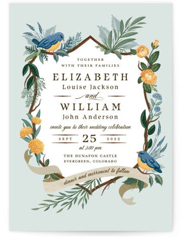 Nature's Crest Wedding Invitations