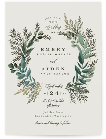 Forest Crest Wedding Invitations