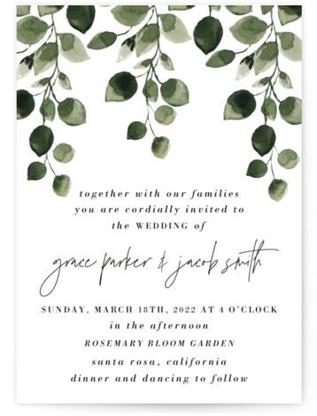 green rush Wedding Invitations