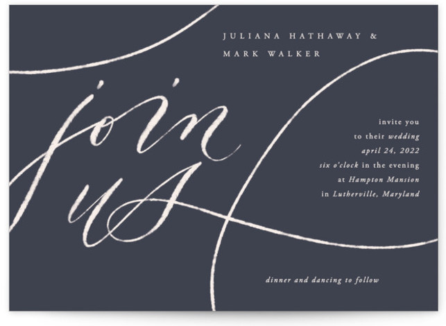 Fountain Pen Wedding Invitations