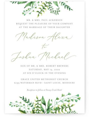 Bright & Green Wedding Invitations