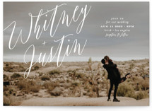Signed Wedding Invitations