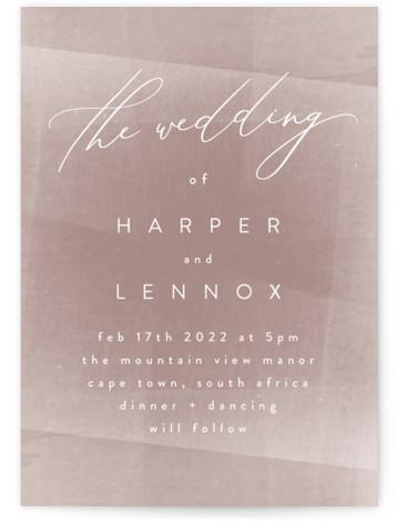 plain paint Wedding Invitations