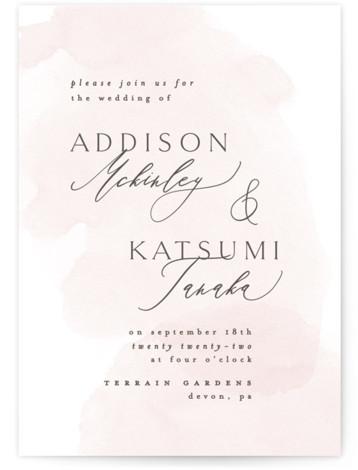 Softly Layered Wedding Invitations