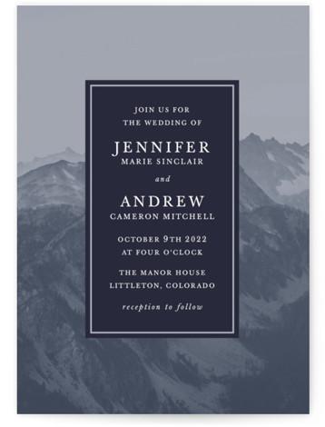 Modern Mountain Wedding Invitations