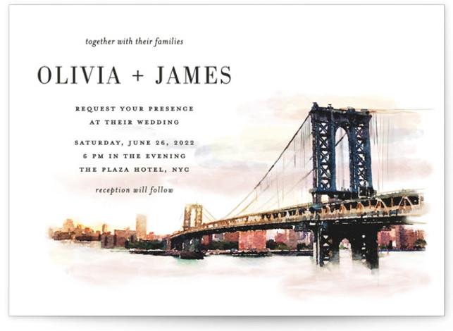 Bold city Wedding Invitations