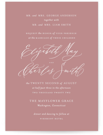 Elysium Wedding Invitations