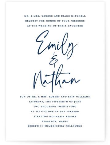 Semi Formal Wedding Invitations