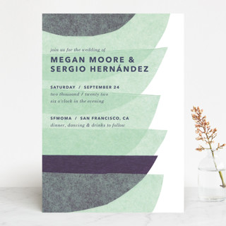 tissue union Wedding Invitations