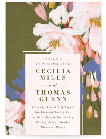 romance in spring Wedding Invitations