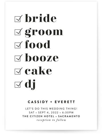 Key Ingredients Wedding Invitations