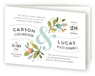 Floral Ampersand Four-Panel Wedding Invitations