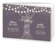 Garden Lights Four-Panel Wedding Invitations