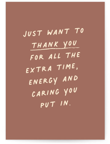 Passing Notes Individual Thank You Greeting Cards