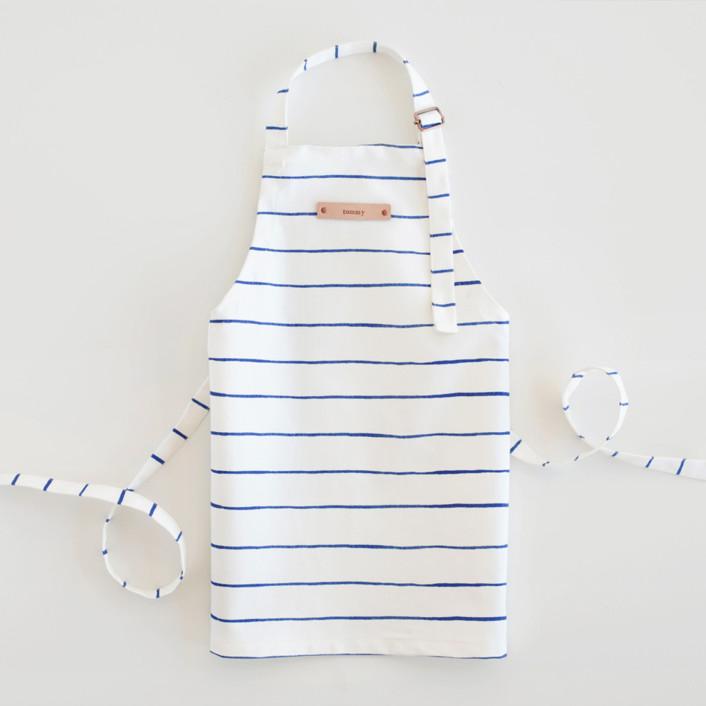 Breton Stripe Personalized Kids Aprons