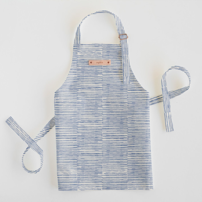 Dashed Stripes Personalized Kids Aprons