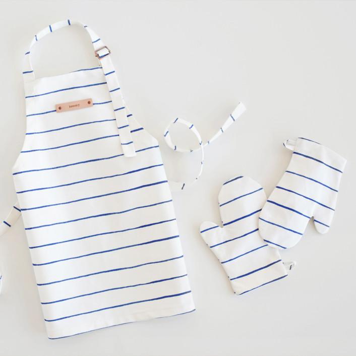 Breton Stripe Children's Apron & Mitt Set
