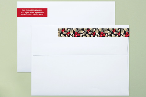 Noel Wreath Skinnywrap™ Address Labels