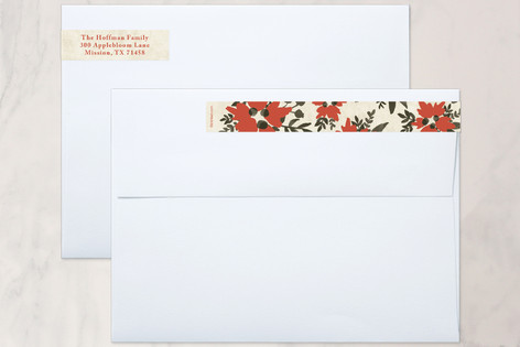 Merry & Bright Hand Lettered Skinnywrap™ Address Labels