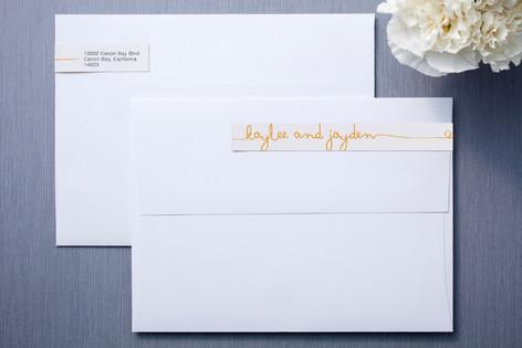 The Happy Couple Skinnywrap™ Address Labels