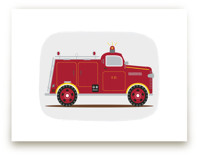 Red Fire Engine #1 by Rebecca Marchese