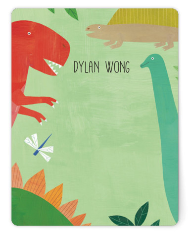 Let's Roar DInosaur Children's Personalized Stationery