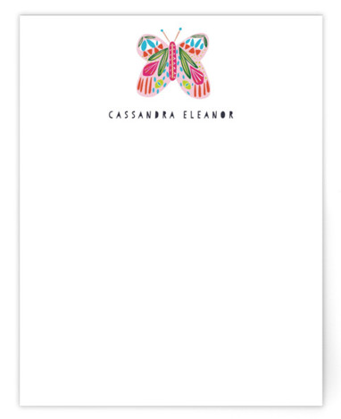 A Butterfly Children's Personalized Stationery