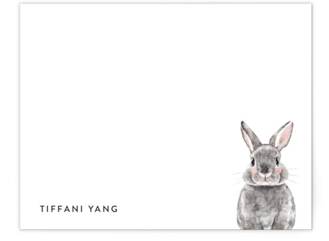 Baby Animal Rabbit Children's Personalized Stationery