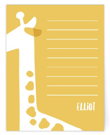 Giraffe Children's Personalized Stationery