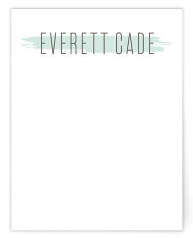 brushed gallery Children's Personalized Stationery