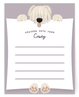Pale Pawsome Note by Gwen Bedat