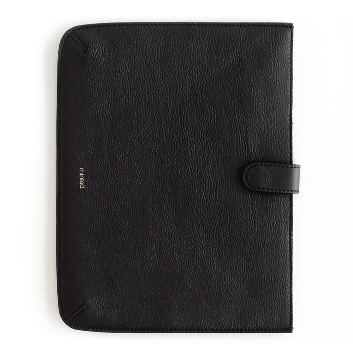 Black iPad® Case Leather Large iPad Case