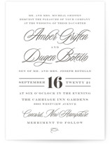 Tied the Knot Letterpress Wedding Invitations