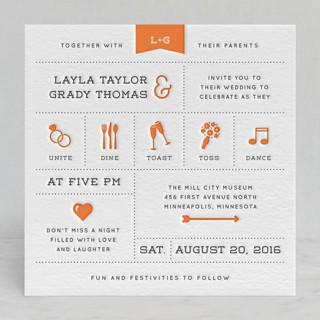 Celebrate the Day Letterpress Wedding Invitations